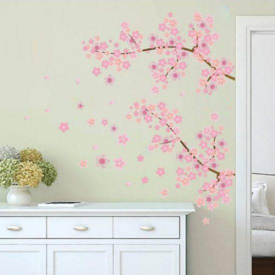 bloemen muursticker